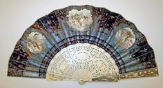 Fan late century French , silk, ivory, sequins, metallic thread So pretty would love to try n duplicate sorta with embroidery Antique Fans, Vintage Fans, Vintage Accessories, Women Accessories, Fashion Accessories, Hand Held Fan, Hand Fans, Old Fan, Umbrellas Parasols