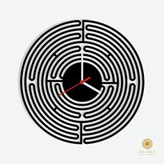 Circle Maze Modern Wall Clock Osaree http://www.amazon.com/dp/B015HCGGSK/ref=cm_sw_r_pi_dp_4dn.vb1B780QP