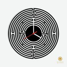 Circle Maze Modern Wall Clock Osaree http://www.amazon.com/dp/B015HCGGSK/ref=cm_sw_r_pi_dp_4dn.vb1B780QP