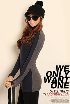 Today's Hot Pick :Two Tone Turtleneck Pullover http://fashionstylep.com/SFSELFAA0000087/happy745kren/out High quality Korean fashion direct from our design studio in South Korea! We offer competitive pricing and guaranteed quality products. If you have any questions about sizing feel free to contact us any time and we can provide detailed measurements.