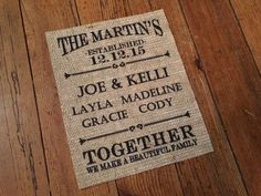 Blended Family Burlap Print  Happily Blended  by TheThriftyGifter
