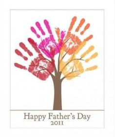Fathers Day Last Minute Printable Gift - DIY Child's Handprint Tree - Editable Printable pdf - Kid's craft project - Tree Art Project Daycare Crafts, Baby Crafts, Toddler Crafts, Preschool Crafts, Kid Crafts, Craft Projects For Kids, Art Projects, Children Projects, Summer Crafts