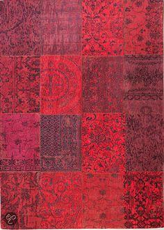 Louis de Poortere Vintage Kelim Red 8014 200x280 cm Vloerkleed