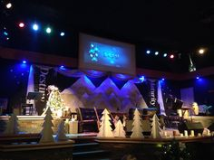 North Pole Worship Center Christmas Eve Service Set Up As A Family Setting