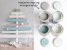 Binti Home Blog: D.I.Y. Christmas tree with colours from Pure and Original (deel 2)