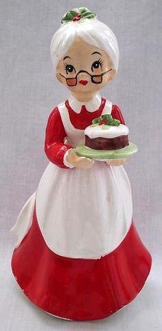 "Vintage Josef Originals Ceramic Mrs Claus Christmas Figurine 6 1 4"" Tall Japan | eBay"