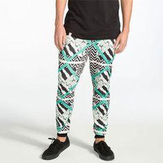 ELWOOD Geometric Stripe Mens Jogger Pants