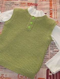 Ravelry: Argyle Vest pattern by Patons Baby Knitting Patterns, Knitting For Kids, Free Knitting, Baby Boy Cardigan, Baby Pullover, Crochet Baby, Free Crochet, Ravelry, Diy Crafts Knitting