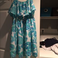 Lilly Pulitzer for target dress xs sea urchin Satin flounce dress. Perfect condition. Only worn once. Size xsmall. Lilly Pulitzer for Target Dresses