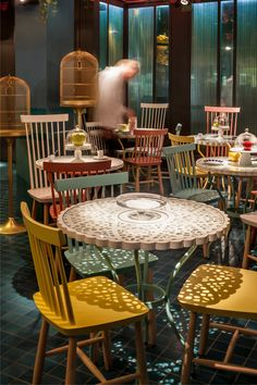 furniture, La Dolça of Tickets Restaurant
