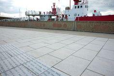 Journeyer | Harwich | Essex Installed Bench & Sea Wall Artwork.