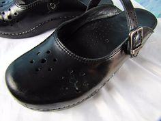 DANSKO MERRIE Clog Mary Jane Slide Professional Staple Size 39/8 Black Leather  #Dansko #Clog #WeartoWork
