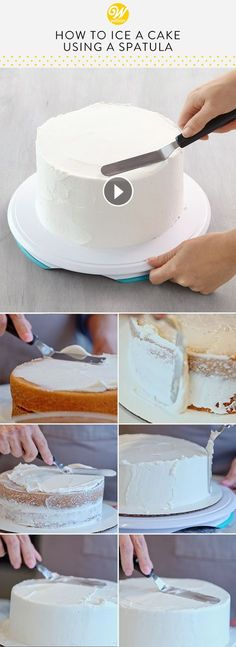 21 ideas cake decorating tips and tricks buttercream icing recipe for 2019 Cakes To Make, How To Make Cake, Cake Decorating For Beginners, Cake Decorating Techniques, Cake Decorating Tutorials, Decorating Ideas, Cake Icing Techniques, Piping Techniques, Cake Decorating Piping
