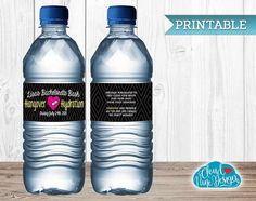 Personalized Bachelorette Water Bottle Labels with funny message on the back!