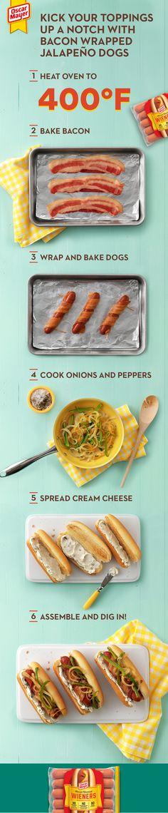 Bacon Wrapped Jalapenos, Oscar Mayer, Celery Juice, Hot Dog Recipes, Hot Dogs, Love Food, Meal Planning, Punch, Food To Make