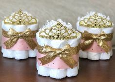 The Posh Toosh Specialty Diaper Cakes make perfect baby shower centerpieces and décor, baby shower gifts, nursery décor, and a unique and practical gift for a mommy-to-be! ONE Single Tier Mini- Pink and Gold Little Princess Diaper Cake with Tiara ~~~~~~~ http://www.giftideascorner.com/christmas-gifts-mom/ #babyshowergifts #christmascakes