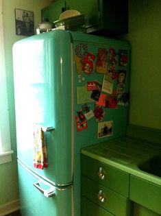 northstar refrigerator | Erica's thrifty jadeite kitchen remodel | Retro Renovation
