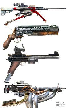 ArtStation - Weapons set N3, Gonzalo Ezequiel Temes