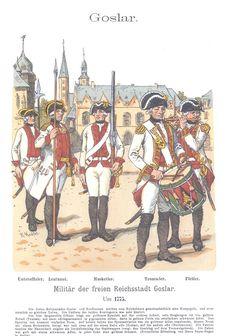 Band XIII #39.- Goslar. Militär der freien Reichsstadt Goslar um 1775.
