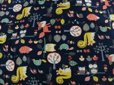 Image of Forest Friends - NAVY - with Lycra (Medium Weight)