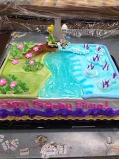 Tinker bell and periwinkle cake