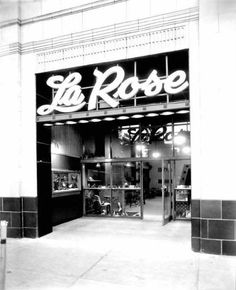 La Rose Shoes in Jacksonville -- my aunt modeled for him back in the 1950's.
