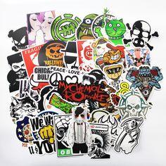 100 pcs cool Fashion DIY Stiker untuk Skateboard Stiker Laptop Bagasi Snowboard Kulkas Telepon mainan Styling dekorasi rumah