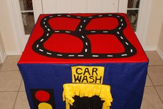 Car Card Table Playhouse - Could probably make something like this.