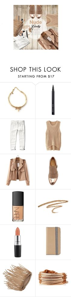 """""""Nude on wood"""" by laste-co ❤ liked on Polyvore featuring Rebecca Minkoff, Bobbi Brown Cosmetics, Abercrombie & Fitch, The Office Of Angela Scott, NARS Cosmetics, MAC Cosmetics, Henri Bendel, Vince Camuto and Gillian Julius"""