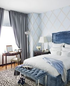 blue bedroom | Richard Mishaan Design My dream bedroom would have these colors