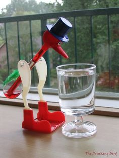 Had a drinking bird---just bought two recently for my husband
