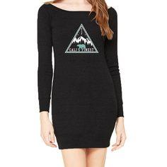 Northern Lights w/ Blue Bear Sweater Dress