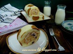 Butter . Flour & Me 爱的心灵之约: 彩绘蛋糕卷 *乳牛花纹* 咖啡奶油 20x30