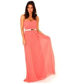 Pin for Later: Perfect Maxi Dresses For Lazy Spring Days  Missguided coral bandeau maxi dress (£45)