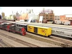 Operating Session at the CMRS model train layout - YouTube