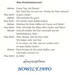 German For Beginners: The hotel-restaurant
