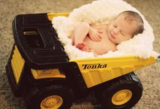 Tonka truck newborn photo1