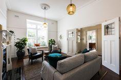 Sandringham Renovation - Living :: Designed by Eat Bathe Live Decor, Renovations, Oversized Mirror, Bath, Couch, Interior Renovation, Furniture, Interior, Home Decor
