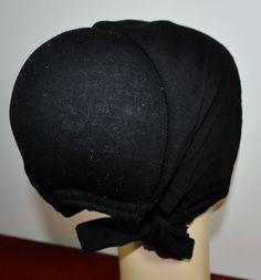 Cotton Under Scarf Hijab Bonnet Cap Hump Bun Style Black With Attached Lace for sale online Hijab Caps, Bonnet Cap, Bun Styles, Hijabs, Turban, Hijab Fashion, Hair Clips, Silk, Lace