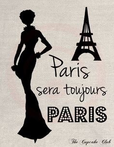 Clip Art Design Transfer Digital File Vintage Download DIY Scrapbook Shabby Chic Drawing Silhouette Fashion France French Paris Art No. 0463