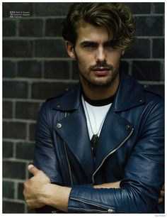 Jacey Elthalion is Biker Chic in Leather Jackets for GQ China image Jacey Elthalion GQ China Fashion Editorial Mens Leather Biker Jackets 006