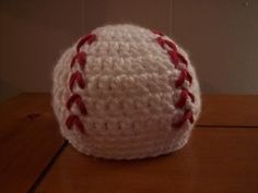 crocheted Newborn Baseball Hat,,free pattern...too cute