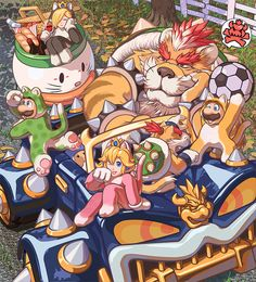 by Bowser's vaunted new car! Bowser: Hey, behave yourself! No matter how much time passes, we wo. Take a Wild WILD Picnic Super Mario Bros, Super Mario Nintendo, Super Mario Brothers, Super Smash Bros, Mario Kart, Mario Y Luigi, Metroid, King Koopa, Nintendo Princess