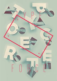 "artwork by Firebelly Design for Chicago's Typeforce 4, an annual ""Showcase of Typographic All-stars""."