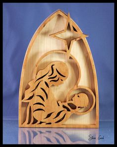 nativity scroll saw patterns   mary and baby jesus scroll saw pattern