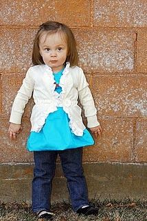 A ton of really cute diy outfits for toddler girl ruffle cardigan tutorial