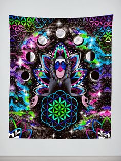New Electro Wall Tapestries! Features: HD Full-Quality Artwork by @brizbazaar I need this in my yoga room