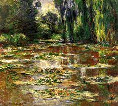 Claude Monet. The Japanese Bridge - The Bridge over the Water-Lily Pond (1905)