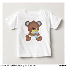 baby bear cartoon t-shirt