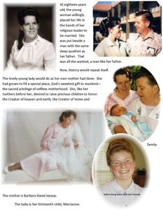 "Pro-FLDS propaganda featuring - who else - Barbara Steed Jessop, Merril Jessop, and the poor child-bride Merrianne Jessop. While this propaganda is trying to make it appear as though Merrianne was removed with no cause, the cause was clear: 24 days after she turned 12-years-old, Merrianne was ""married"" to Warren Jeffs."